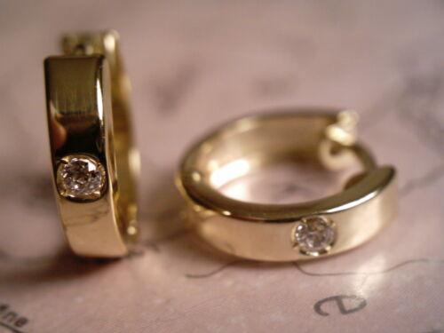 Goldcreolen 333 mit Stein,Klappcreolen Gold 12,5 x 3mm Scharniercreolen Zirkonia