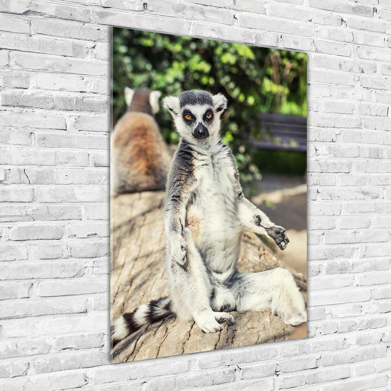 Wand-Bild Kunstdruck aus Acryl-Glas Hochformat 70x100 Lemur