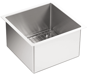 KOHLER-K-5287-NA-Strive-15-X-15-Inch-Under-Mount-Bar-Sink-with-Basin-Rack