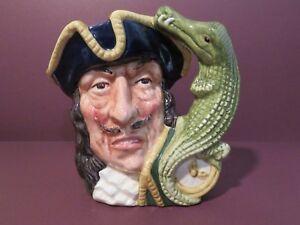 Royal Doulton Captain Hook Small Character Jug D6601 from Peter Pan