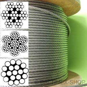 3 mm edelstahlseil drahtseil a4 edelstahldrahtseil v4a spannseil cable inox 3mm ebay. Black Bedroom Furniture Sets. Home Design Ideas