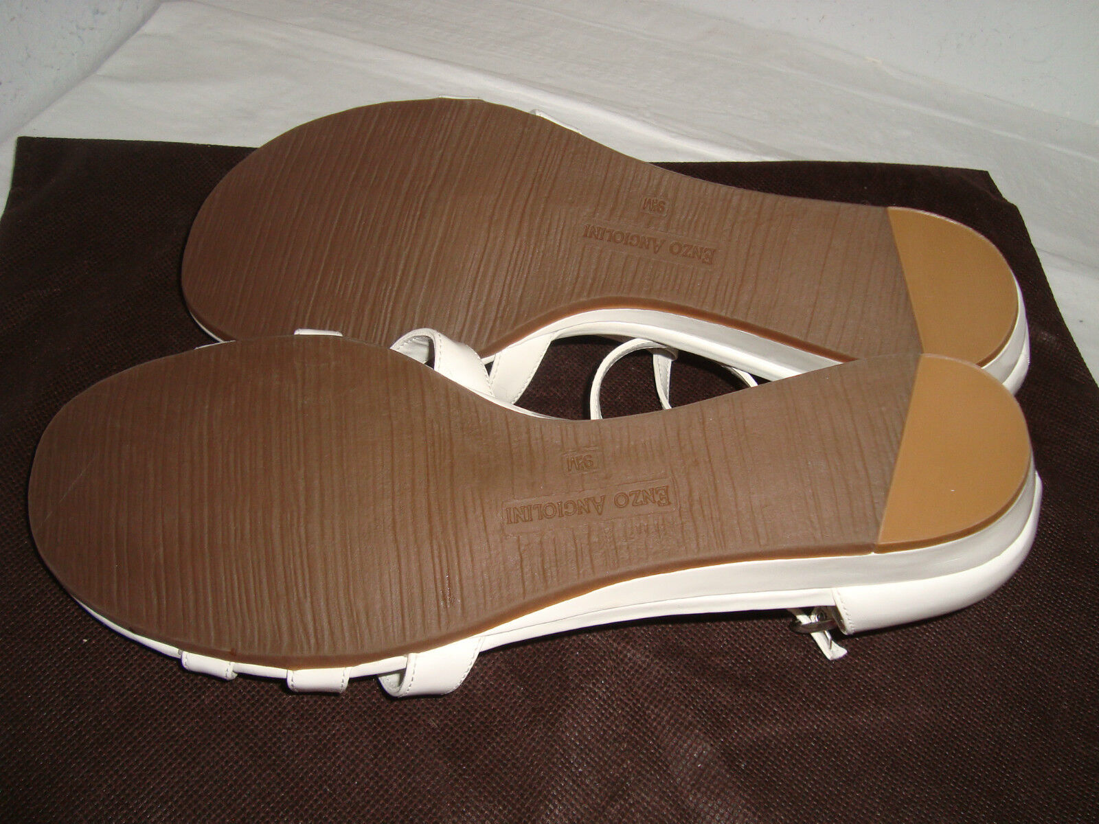 Enzo Angiolini New Damenschuhe Nyler Weiß Wedge Patent Wedge Weiß Sandales 9.5 M Schuhes NWOB e0a2df