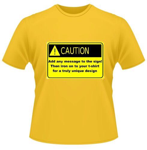 N/'IMPORTE QUEL MESSAGE TEXTE PERSONNALISÉ T Shirt Hommes Dames poule // Stag Party MISE EN GARDE