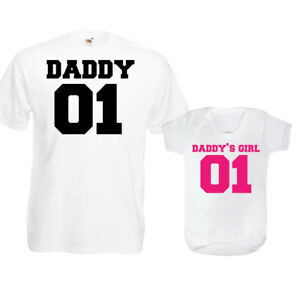 070cc20a Daddy 01 Daddy's Girl T Shirt Vest Daughter New Dad Baby Grow ...