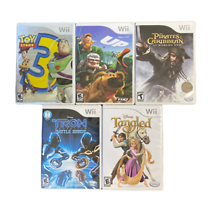 Disney-Wii-Games-Bundle-Toy-Story-3-Up-Pirates-of-the-Caribbean-Tron-Tangled