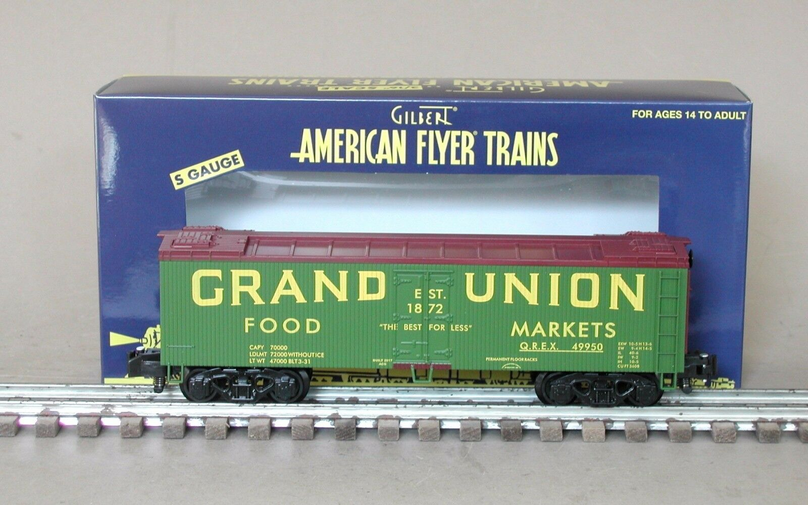 American Flyer 6-49950 Grand Union Wood Side Refrigerator Car by Lionel
