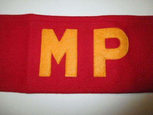 b3181 USMC Korean thru Vietnam  M.P Armband Military Police IR33T