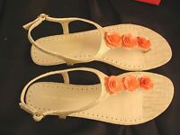 Women's Adrienne Vittadini tigger 1/2 Wedge Sandal Orange Accents Sz 8.5
