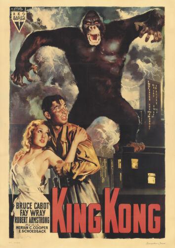 "Italian Version Vintage Movie Film Poster Print /""KING KONG/"" Year 1993"