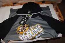 BOSTON BRUINS HOODED CENTER ICE DRY FIT HOODED SWEATSHIRT SZ SMALL NEW $90