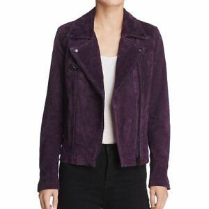 BLANK-NYC-NEW-Women-039-s-Genuine-Suede-Zip-up-Motorcycle-Jacket-Top-XS-TEDO