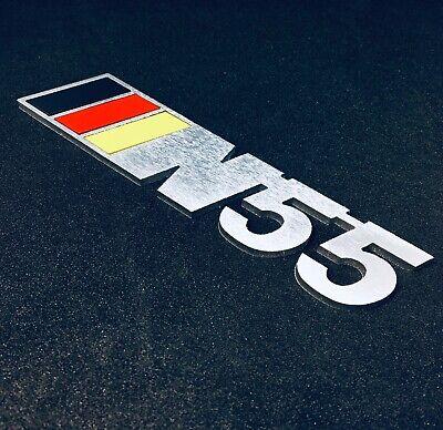Black w German Color BMW N55 Metal Badge for Trunk or Engine Cover 3D