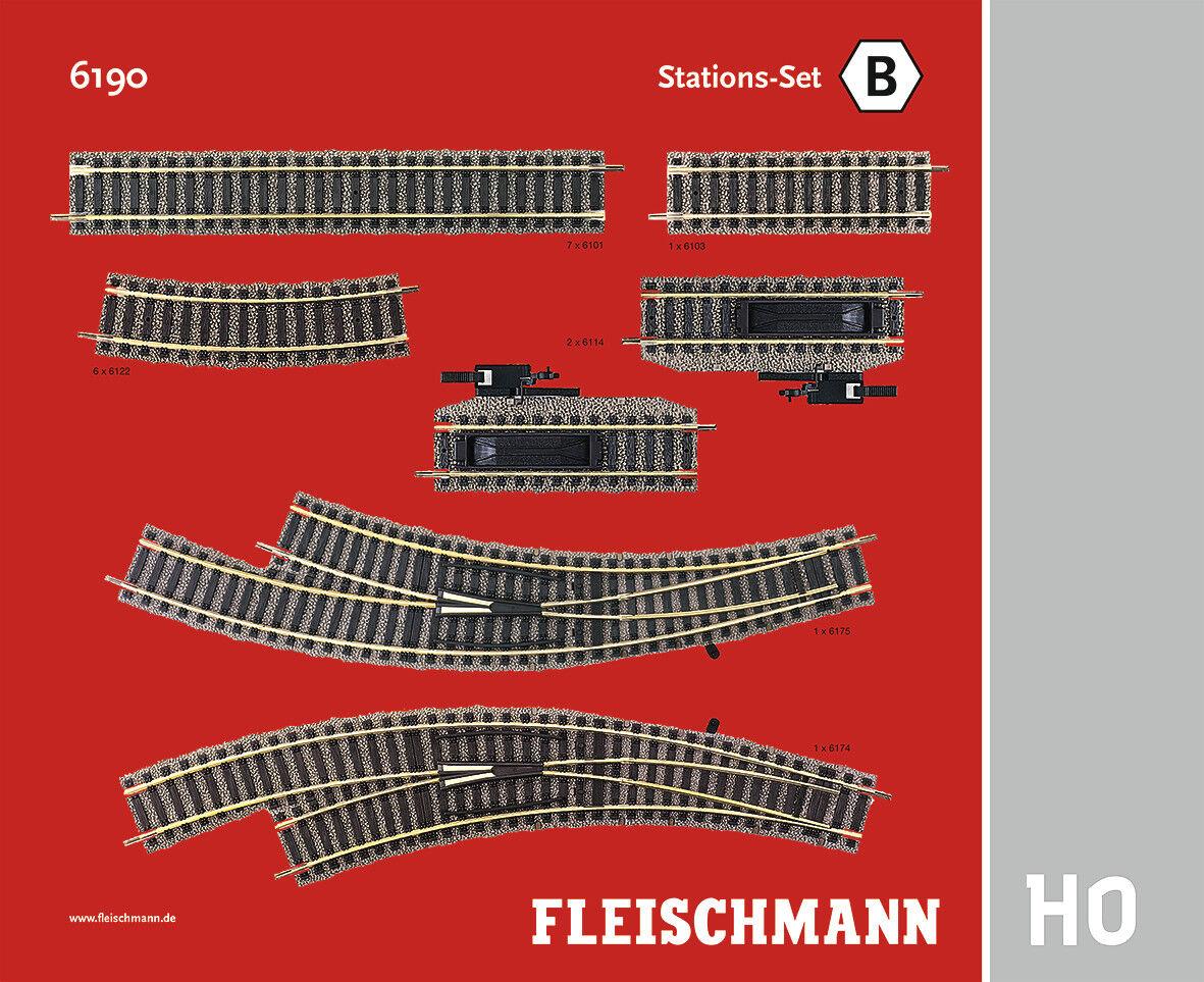 Fleischmann 6190 H0 Stations-Set B  NEU & OVP  | Zu einem niedrigeren Preis