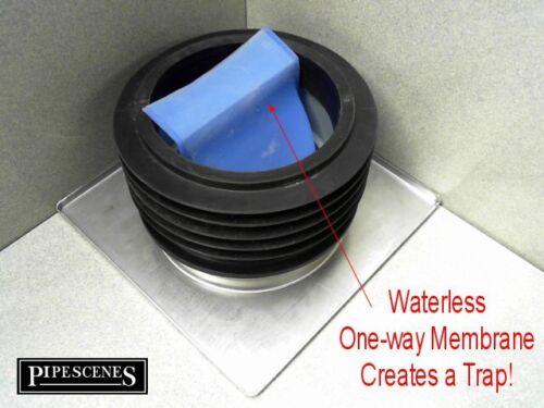 Wet room Wet Floor DOCCIA bacino di drenaggio tutti in una trappola e rifiuti Waterless 110mm 150mm