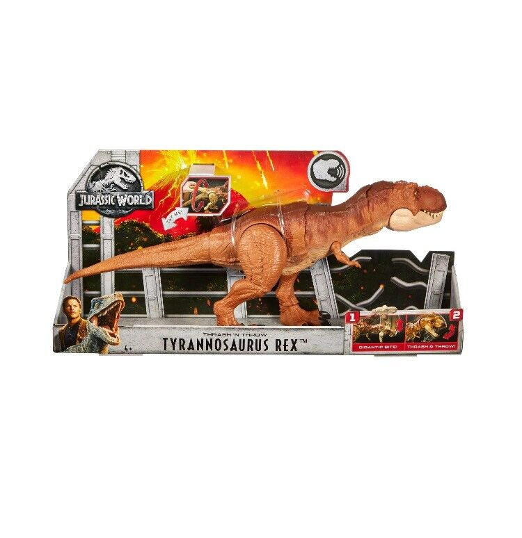 Jurassic World 2 Fallen Kingdom Thrash 'N Throw Tyrannosaurus Rex Roaring T-Rex