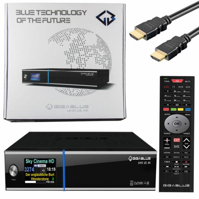 GigaBlue UE 4k UHD Satellite Receiver 2 X FBC Dvb-s2 E2 Multi Room IPTV  2160p