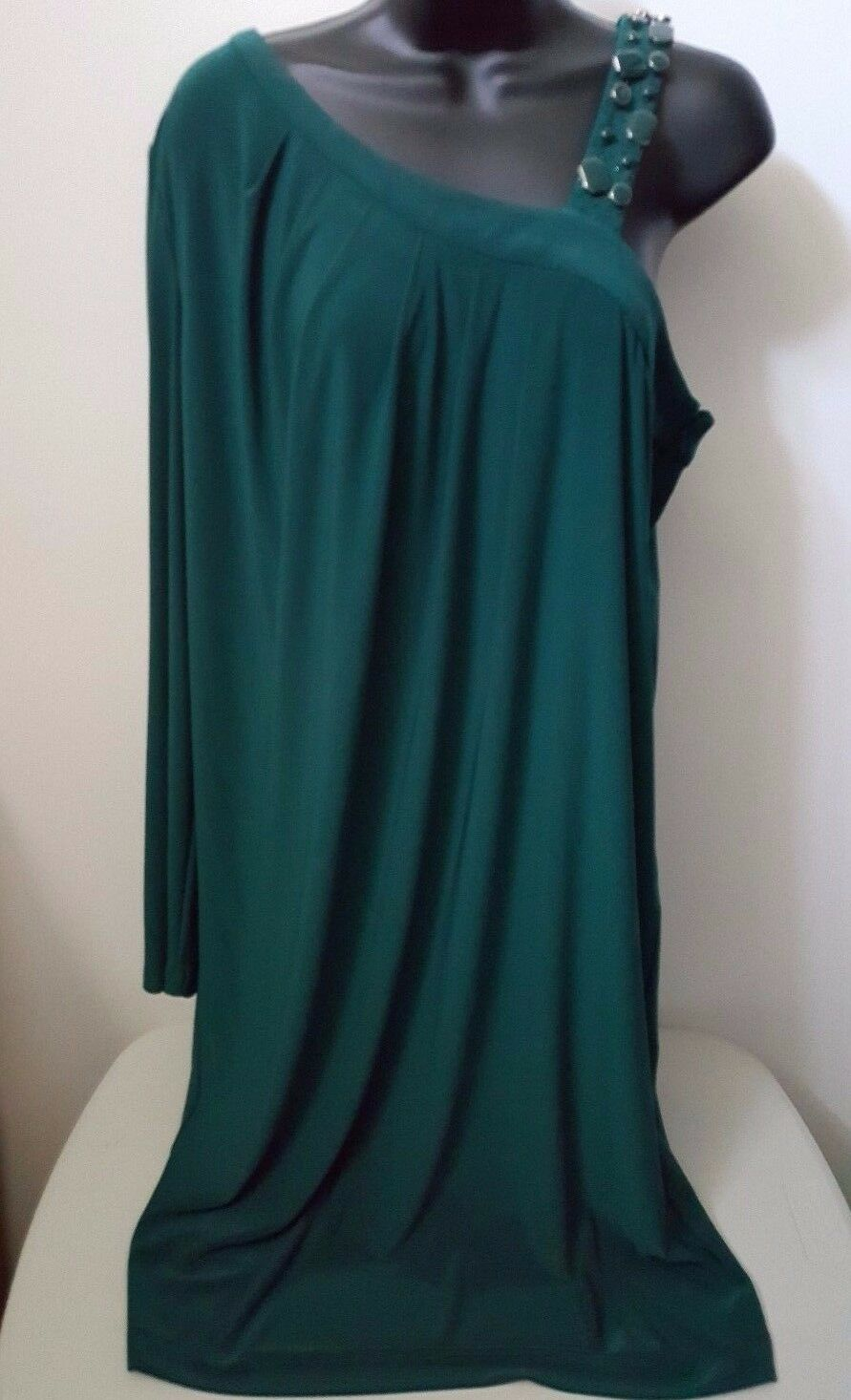 Adrianna Papell NWT Womens Green w  Gems Casual Formal Evening Dress Size 16