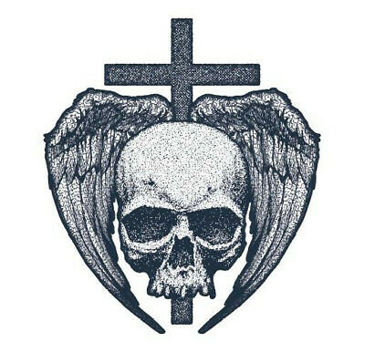 Skull Cross Wings Temporary Tattoo Sticker Waterproof Men Boys Back 10x10cm Ebay