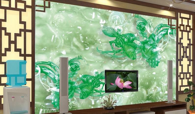 3D Grüne Biene 754 Tapete Wandgemälde Tapete Tapeten Bild Familie DE Summer