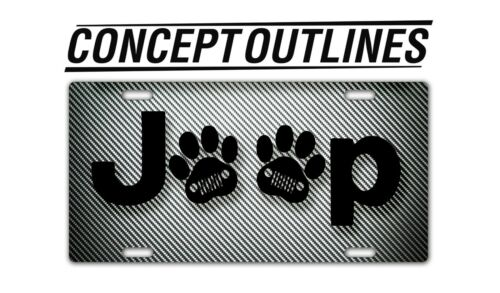 Jeep Paw Premium Aluminium License Plate Tag Custom For Car Room