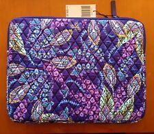 ded881ad22b New Vera Bradley Laptop Sleeve Case in Batik Leaves Purple Floral   181110-625