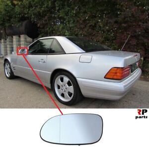 FOR-MERCEDES-BENZ-SL-R129-98-02-NEW-WING-MIRROR-GLASS-HEATED-WITH-FRAME-LEFT-N-S
