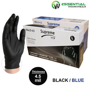 Extra-Strong-Black-Nitrile-Powder-amp-Latex-Free-Disposable-Gloves-Tattoo-Mechanic