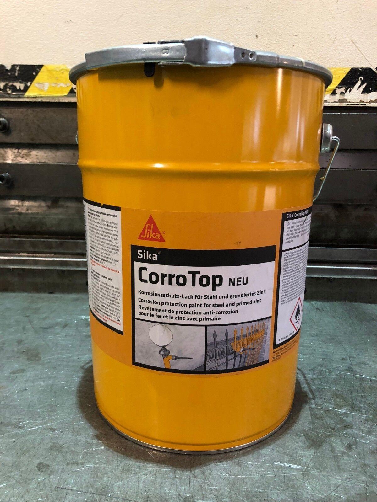 Sika Corro Top Farbe Tannengrün 6009 12,5kg Stahlgrund