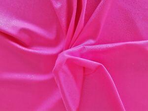 Calidad Superior Rosa Fluorescente 4-way Nylon Elástico Tela De Lycra-efecto de brillo