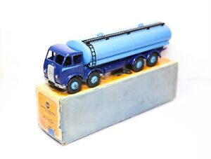 Dinky-504-Foden-14-Ton-Tanker-Blue-In-Its-Original-Box-Near-Mint-Vintage-1950s