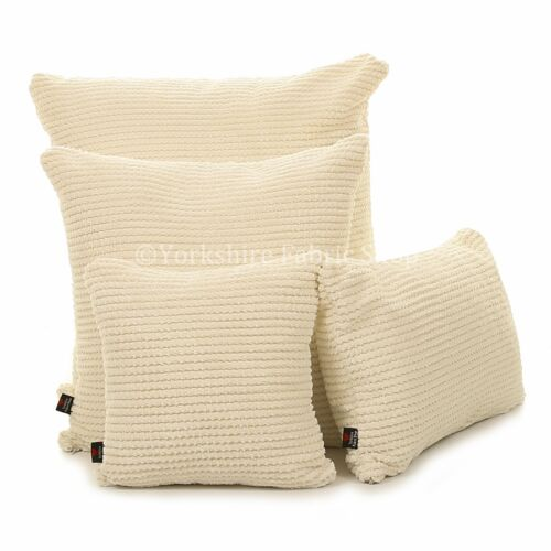 New british handmade plain doux texturé peluche velours tissu rempli de coussins