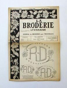 La Broderie Lyonnaise N°1177 - 1960 - Broderies Pour Trousseaux - Alphabet - Npi8qair-07163824-266088794