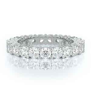 1-Carat-100-Natural-Diamond-Eternity-Wedding-Band-14K-Gold-Engagement-Ring