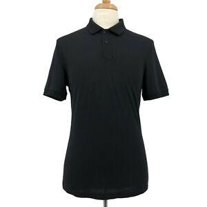 Lululemon | Sz Medium Black Metal Vent Tech Casual Golf Polo Shirt