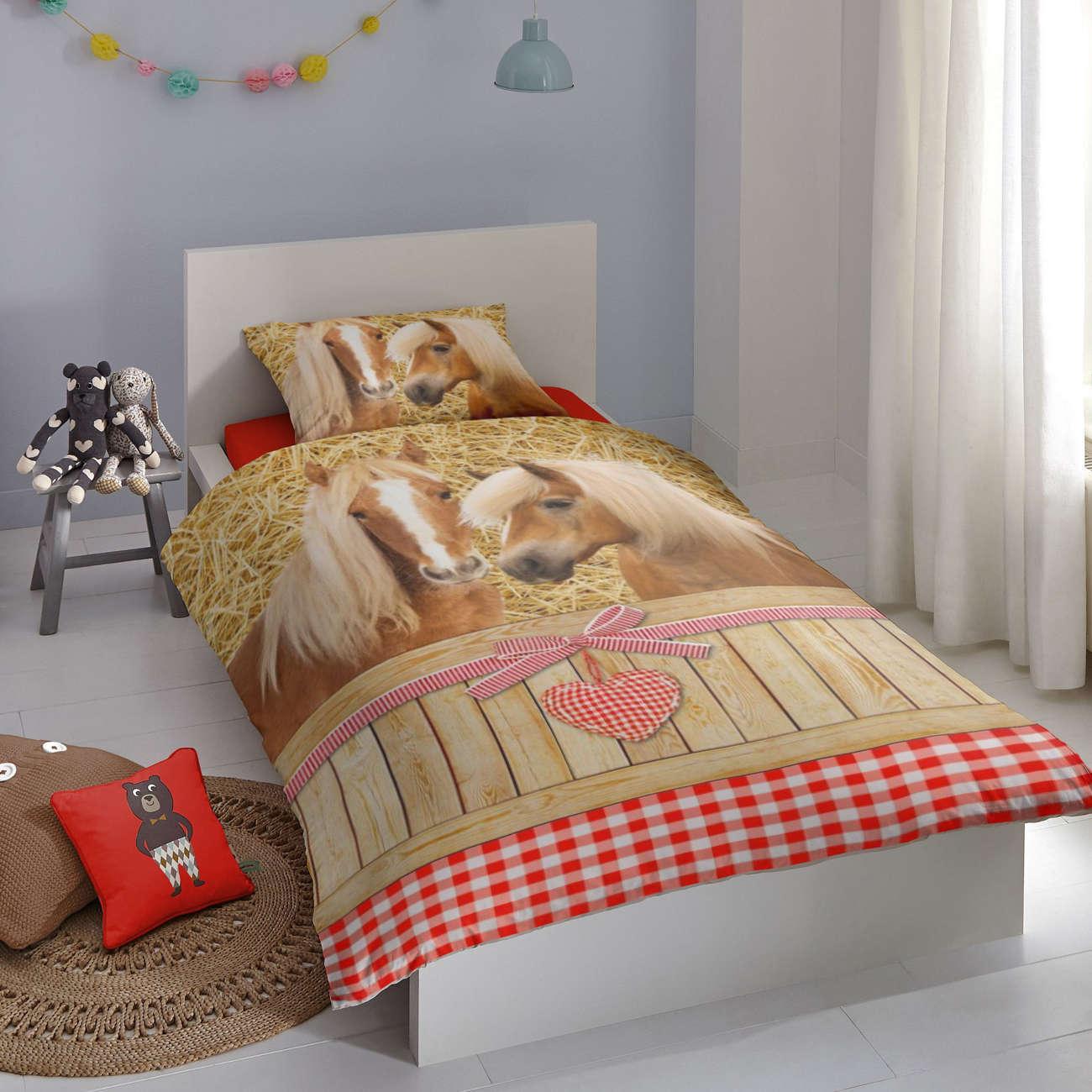 Good Morning Bettwäsche  Goldy  Flanell, braun
