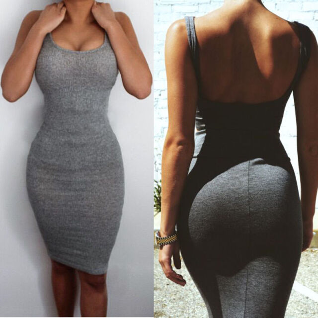 Sexy Women Summer Bandage Slim Bodycon Evening Party Cocktail Split Mini Dress