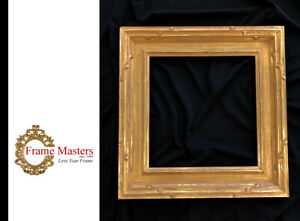 2-3-4-034-Wide-11-034-x-11-3-8-034-Hand-carved-Picture-Frame-Gilded-In-22K-Gold-Leaf