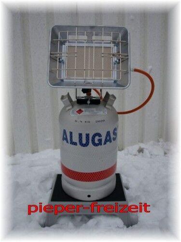 ALU-bombona 11kg en blanco manguera Europa heizstrahlereinheit 4,6 kw incl regulador