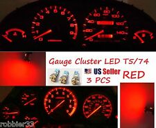 3x T5 5 SMD 3528 LED Gauge Cluster  Shifter Light Bulb RED  74 w1.2w Honda