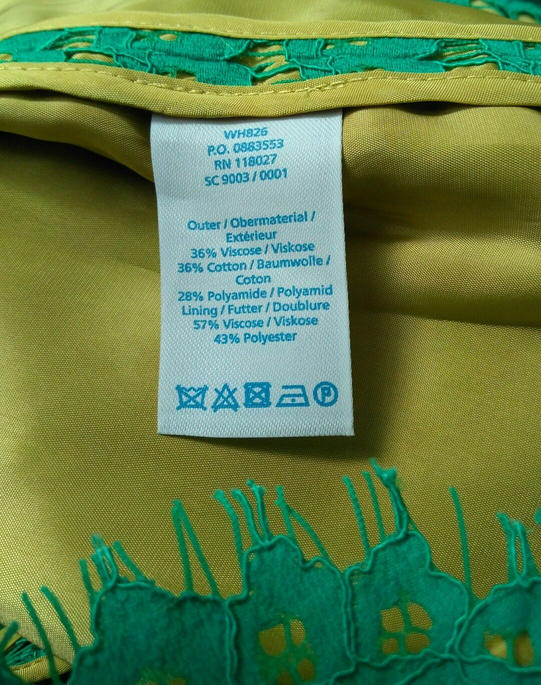 BODEN lace dress size size size 6R --BRAND NEW-- green contrast lining short sleeve 1d92e7