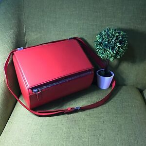 Authentic-Givenchy-Pandora-Box-Medium-Tote-In-Orange-Red