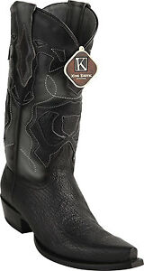 dcc4834a8b3 Details about Men's King Exotic Genuine Shark Skin Snip Toe Western Cowboy  Boots Handmade