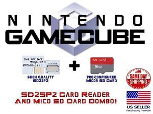 Nintendo GameCube SD2SP2 16 GB MICRO SD Card Adapter Game Cube Serial Port 2