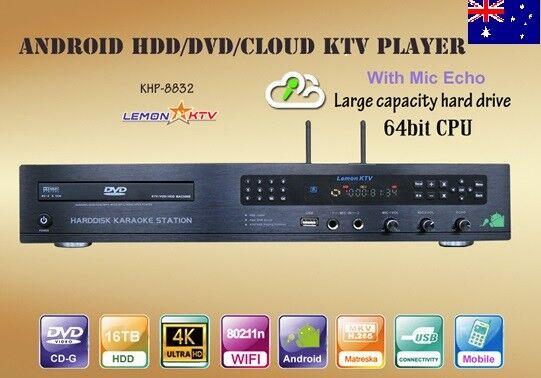 ANDROID KARAOKE 8832, 5TB HDD 56500 VIETNAMESE, ENGLISH SONGS NEW 64 BITS CPU 4K