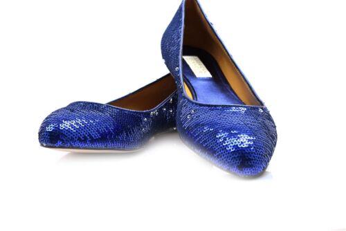 Badgley Mischka American Glamour Blue Sequin Flats 8M
