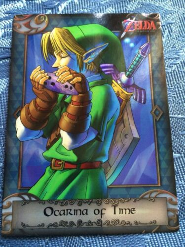 The Legend of Zelda Ocarina of Time Link Trading Card 97 SilverHolofoil Aus