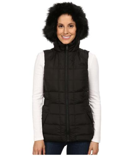 THE NORTH FACE WOMENS GOTHAM VEST HOODED INSULATED 550 DOWN BLACK JACKET M NEW