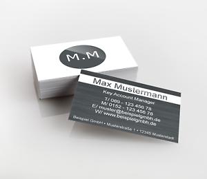 Visitenkarten mit partiellen UV-Lack Premiumqualität 350g//qm