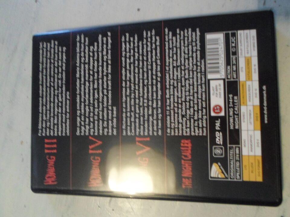 Howling III / IV / VI / The Night Caller (4 film), DVD, gyser