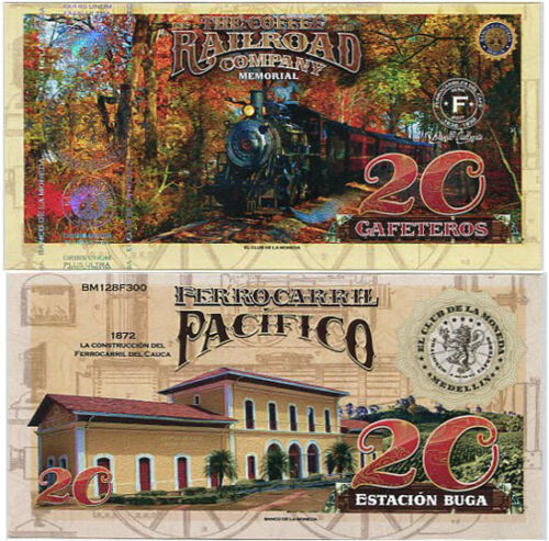 EL CLUB DE LA MONEDA COFFEE RAILROAD 20 GAF 2017 PACIFICO 1872 UNC